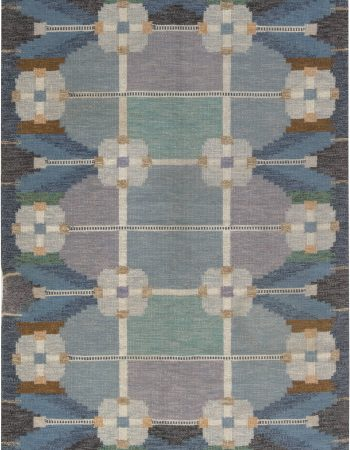 VINTAGE SWEDISH FLAT WEAVE RUG SIGNED BY INGEGERD SILOW BB6873