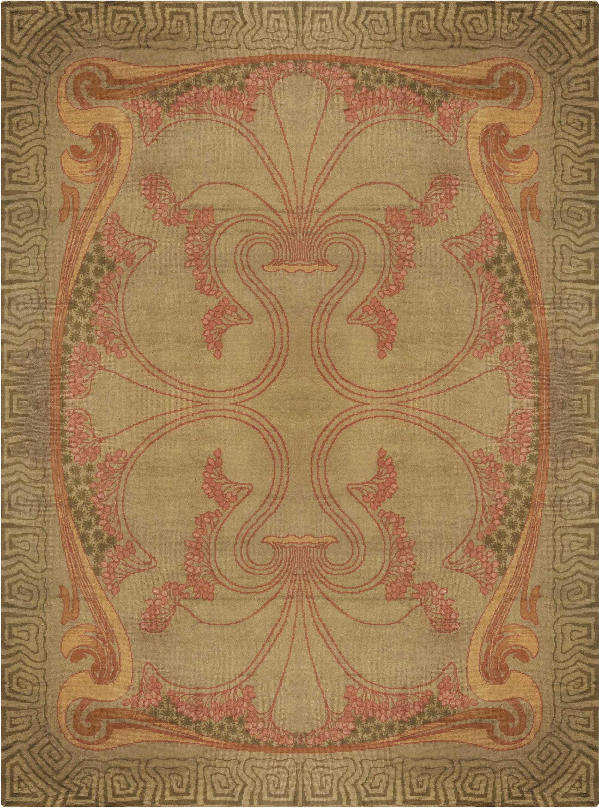 Viennois Vintage Art Nouveau Tapis Bb6644 Par Doris Leslie
