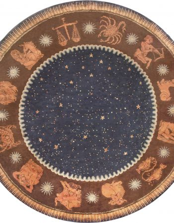 French Deco Circle Rug by Paul Follot BB6783