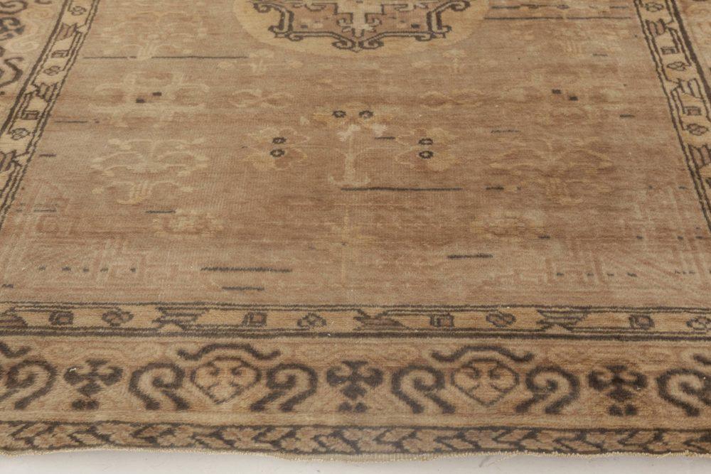 Samarkand Midcentury Brown Handwoven Wool Rug BB6908
