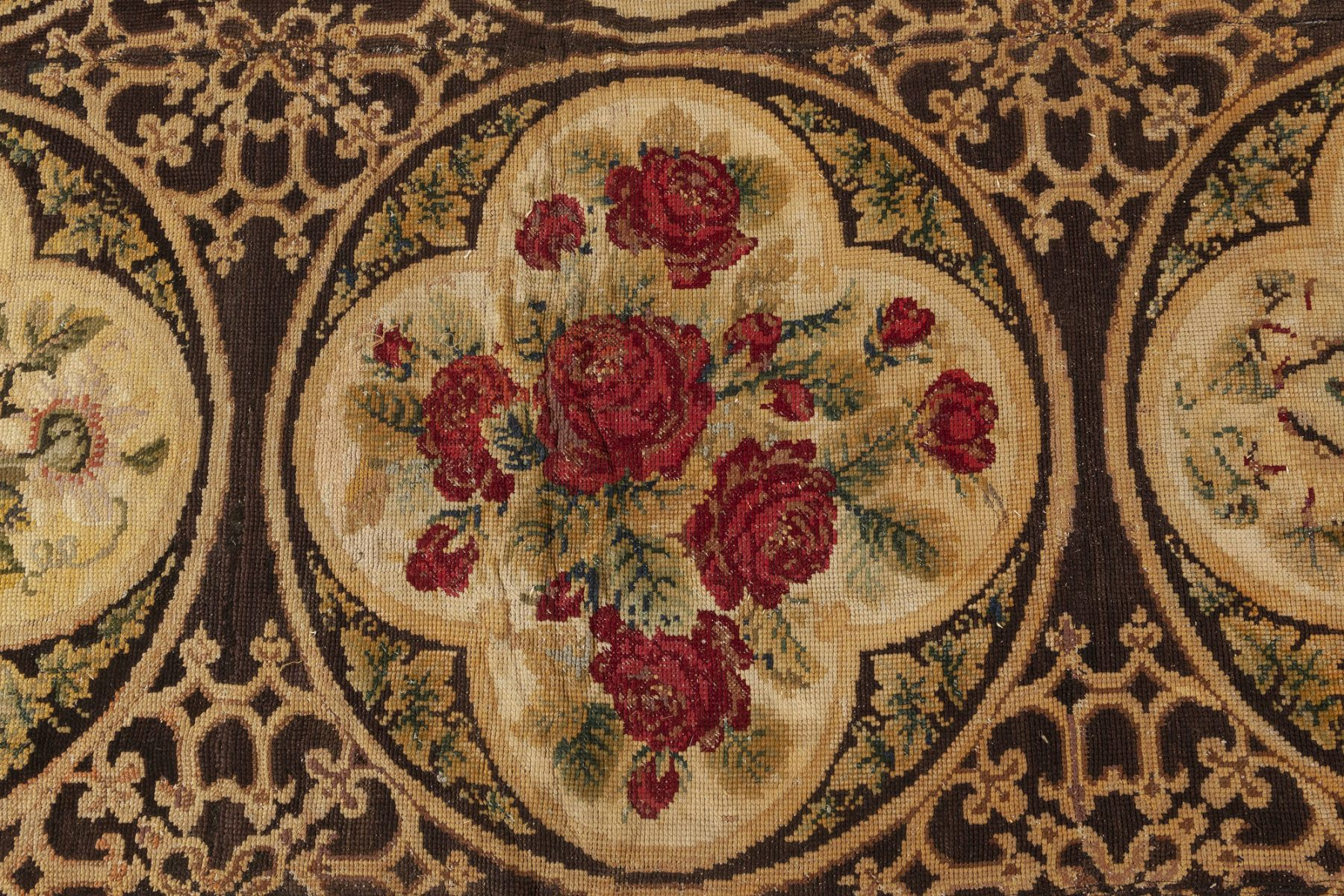 19th Century English Botanic Needlework (Size Adjusted) BB6916