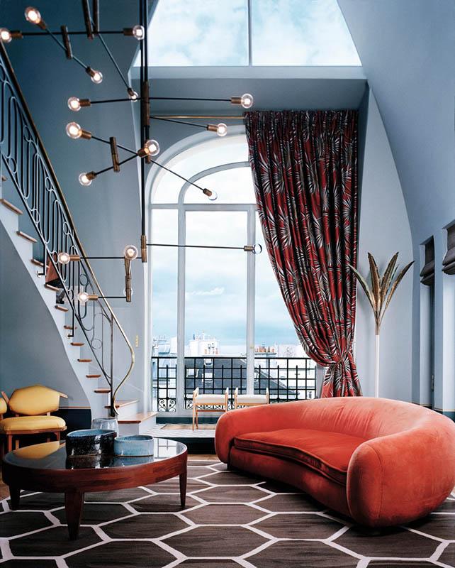 blue interior decor, blueprint color (5)