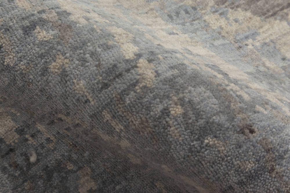 Contemporary Art Deco Style Handmade Wool Runner N11874