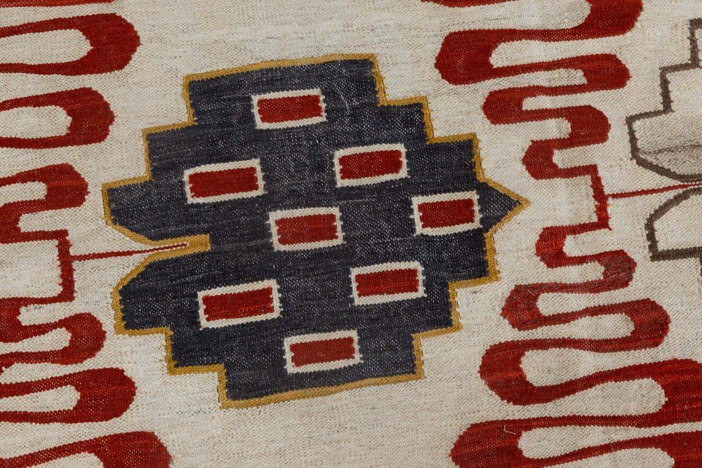 Swedish Design Hazel Geometric Handwoven Wool Rug N11876
