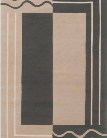 Aubusson Design Geometric Rug N11926