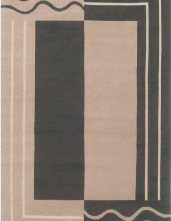 Aubusson Design Geometric Rug N11926