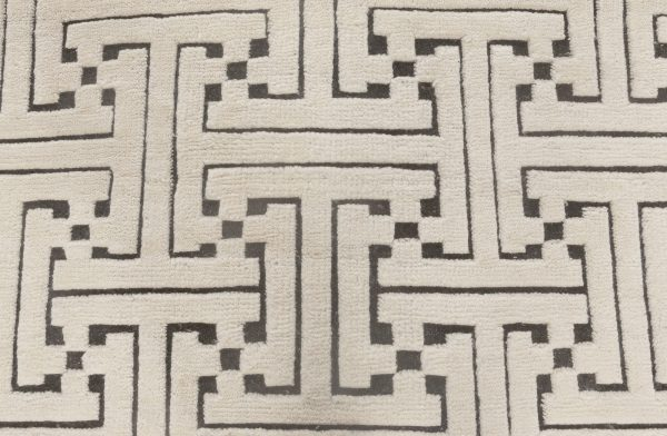 Swedish High & Low Pile Geometric Rug N11879