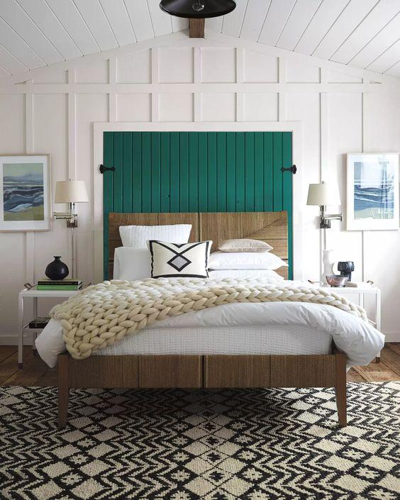 trendy color green interior decor (10)