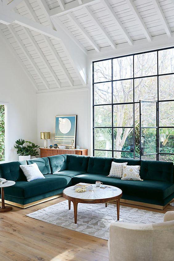 trendy color green interior decor (2)