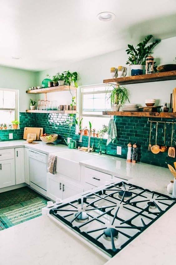 trendy color green interior decor (5)