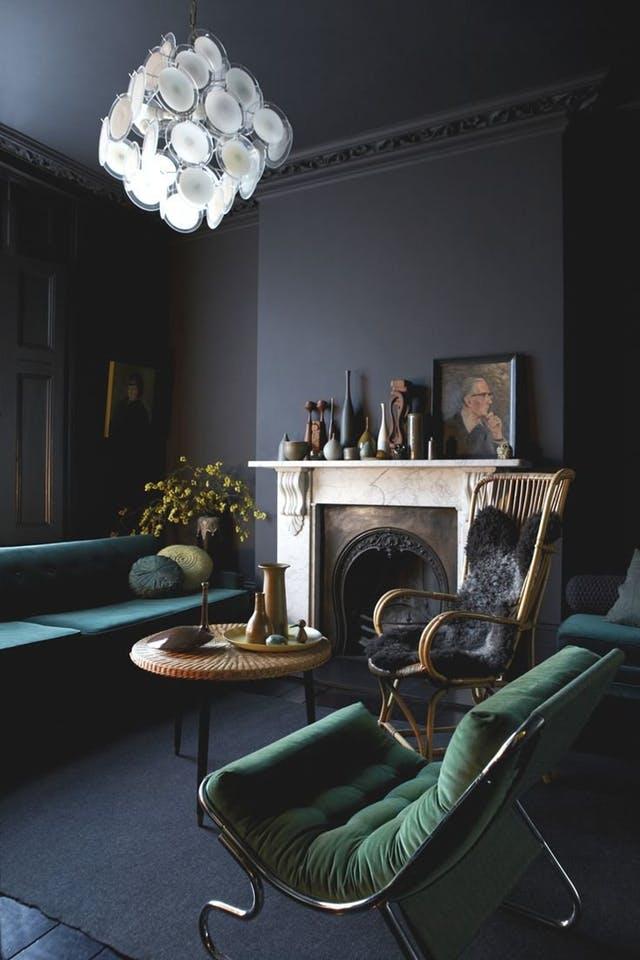 trendy color green interior decor (7)