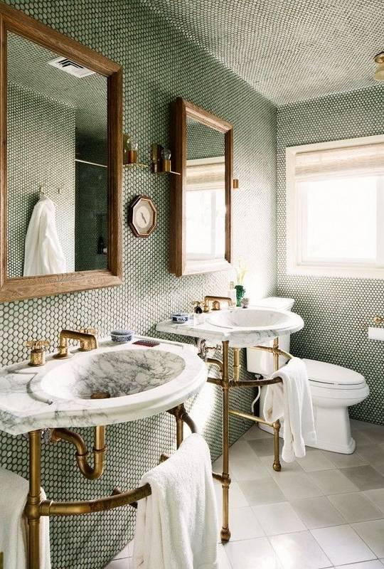 trendy color green interior decor (8)