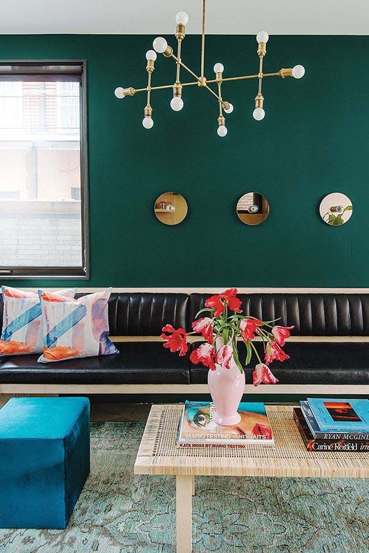 trendy color green interior decor (9)