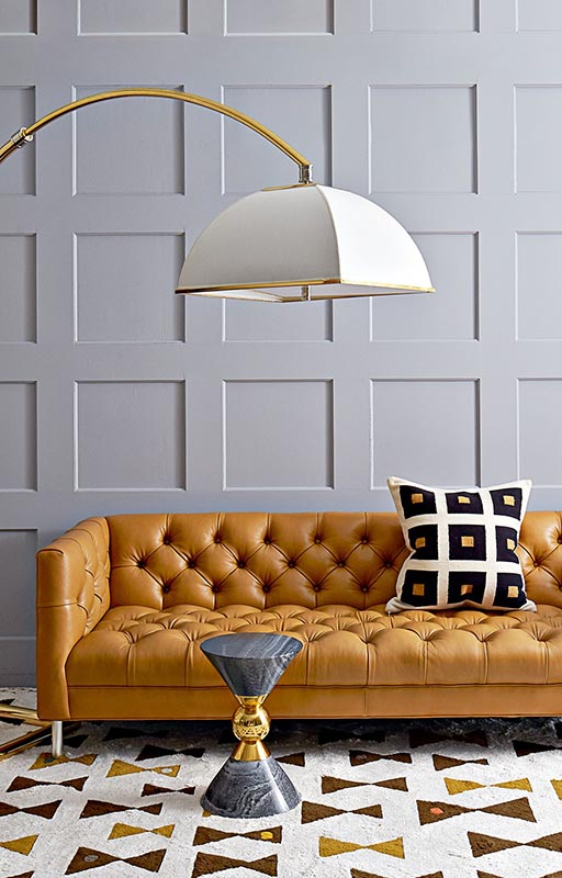 2018 interior decor trends, modern rug living room