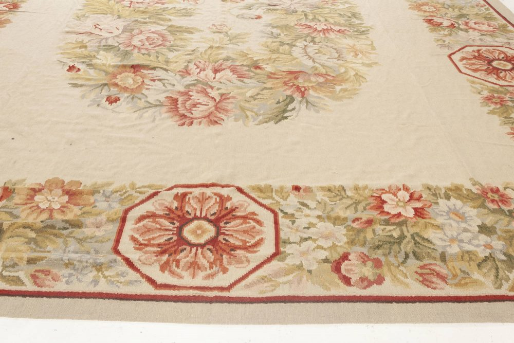 Bessarabian Design Pink, Red, Green, Yellow and Blue Wool Rug N11906