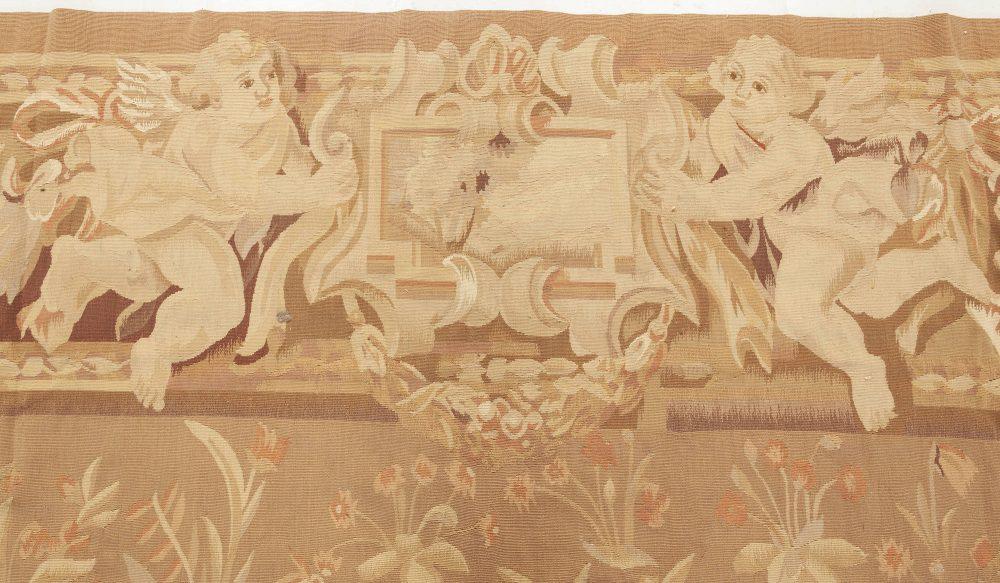 Contemporary Bessarabian Design Beige and Brown Handwoven Cotton Rug N11903