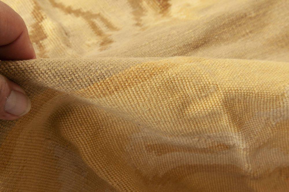 New Bessarabian Design Green, Pink, White and Yellow Wool Rug N11896