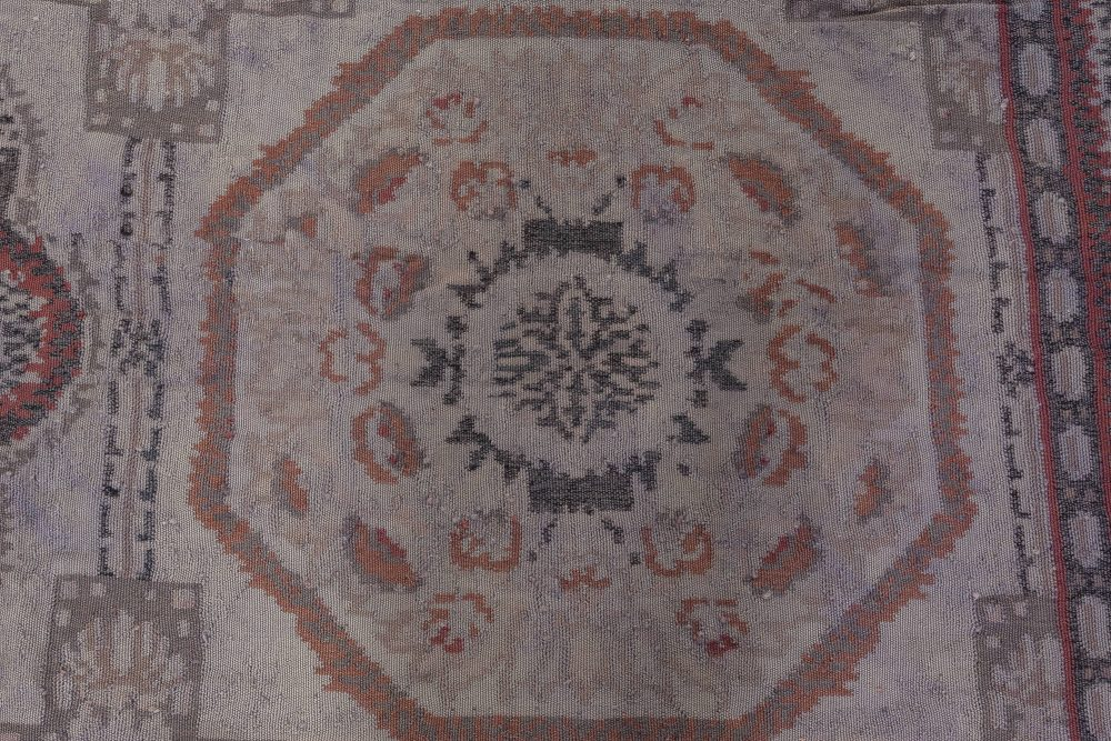Oversized Bessarabian Design Area Rug in Black, Purple, and Red N11897