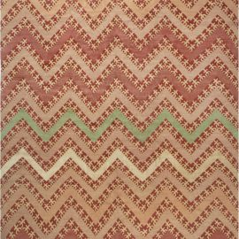Tribal Geometric Salmon, Red, Firebrick & Sandy Beige with Mint Rug N11914