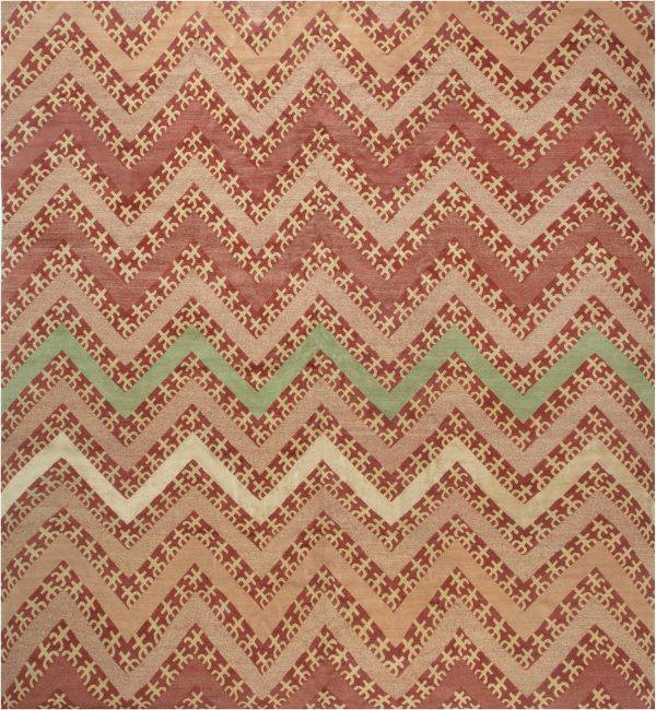 Contemporary Geometric Tribal Rug N11914