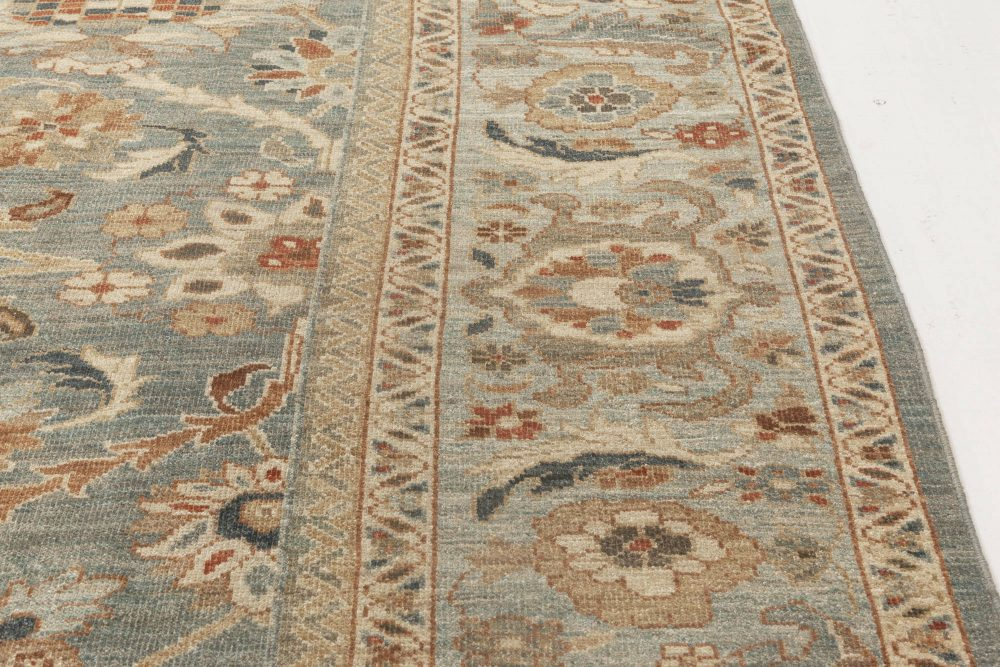 Traditional Sultanabad Design Beige, Off-white, Red and Navy Rug N11872