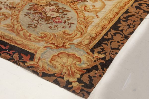 Antique Rug – French Aubusson BB6951