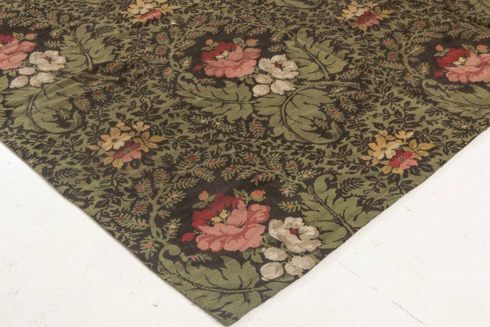 19th Century French Floral Design Needlework Rug BB6947