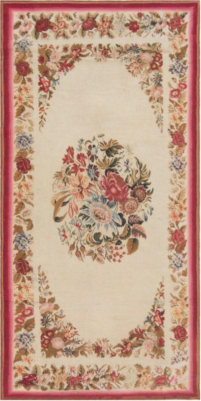 antiguidade-agulha-trabalho-inglês-rug-6 × 3-bb6939