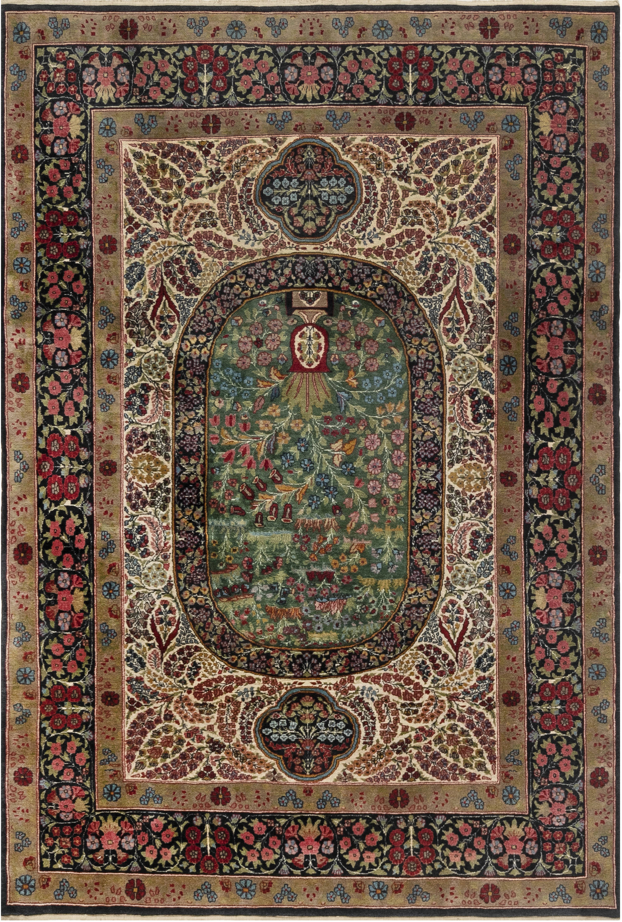 Antique Rug – Kirman BB6931
