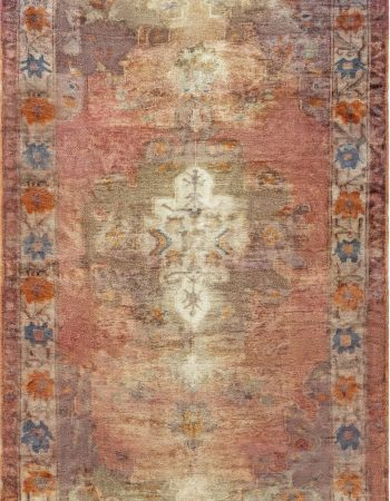 Antique Turkish Oushak Rug BB6924