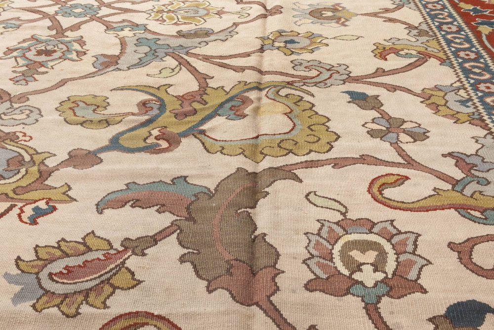 Traditional Floral Design Flat-Weave Rug N11933