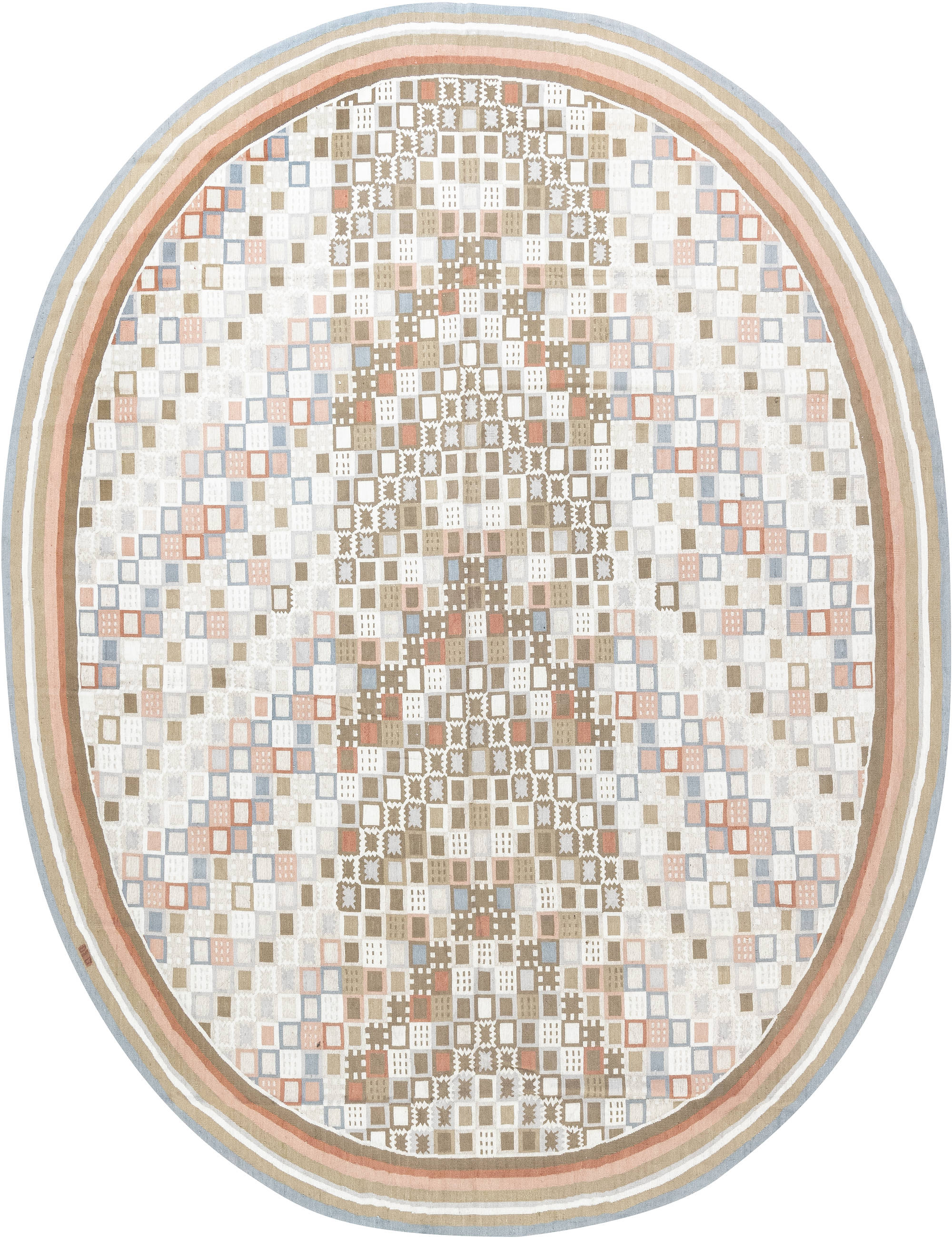 Swedish Circular Design Rug N11931