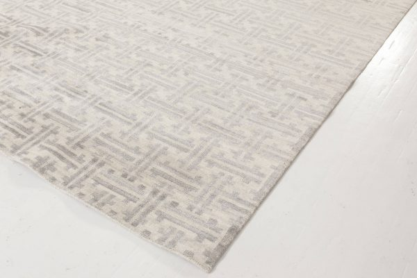 Geometric Terra Rug in Natural Wool N11963