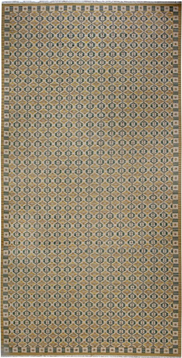 Oversized Swedish Flat Weave Inspired Area Rug by Marta Mass Fjetterstrom N11969