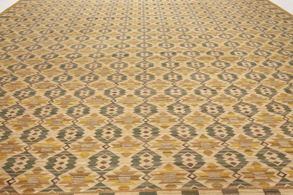 Swedish Flat-Weave Rug Inspired by a Marta Mass Fjetterstrom Design N11969