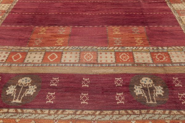 Vintage Swedish Rug by Martha Ghan BB6948