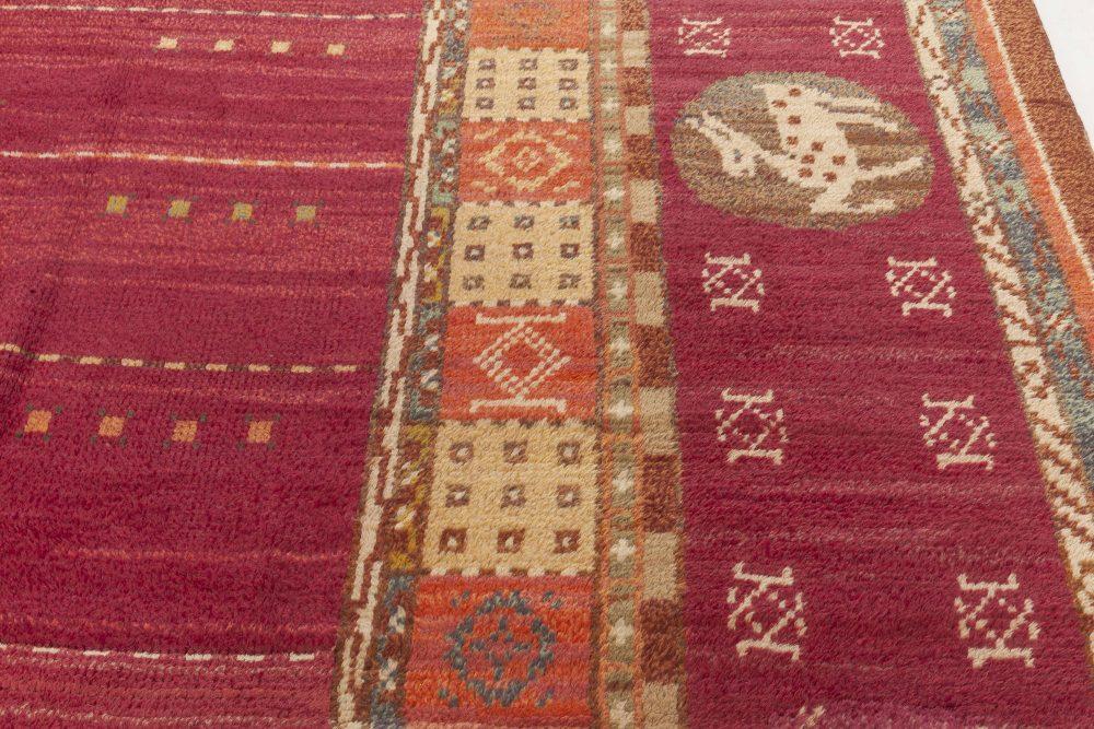 Vintage Swedish Rug by Martha Ghan BB6948