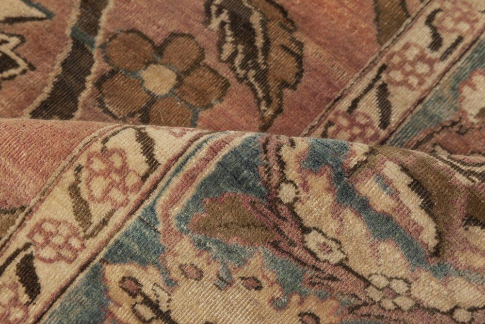 Kirman Rug in Beige, Blue, Brown and Pink BB6960