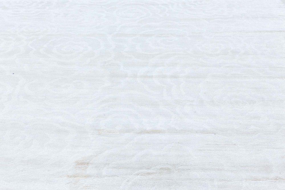 White Camelia Handmade Silk Rug N11970