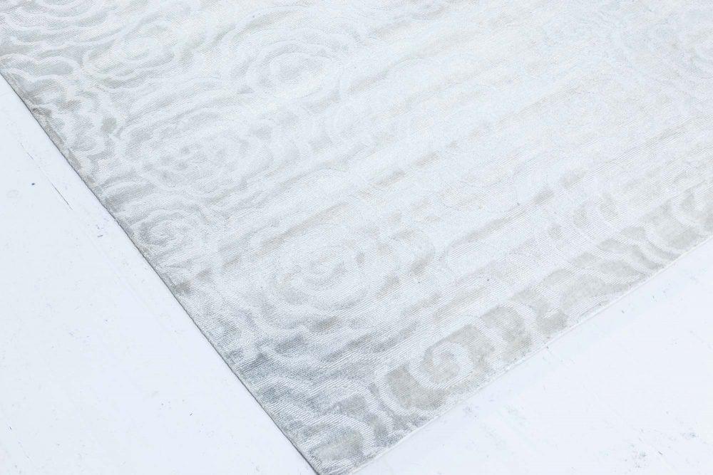 Camelia Silver Grey Handmade Silk Rug N11971