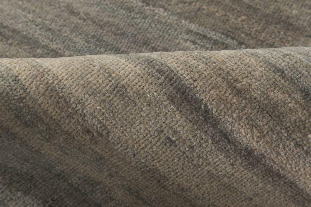 High-quality Oversized Contemporary Gray Handmade Wool Rug N11962