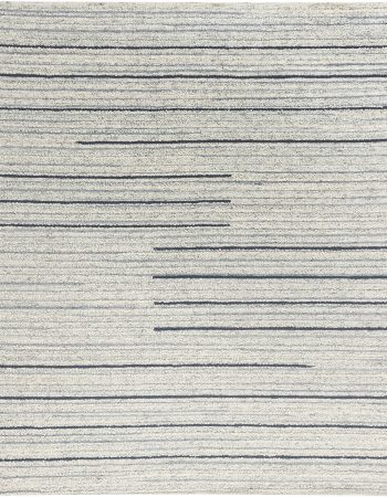 Modern Beige and Dark Blue Flat-Weave Rug N11952