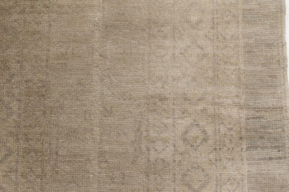Samarkand Beige and Green Handmade Runner (Size Adjusted) N11954