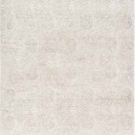 Contemporary Traditional Inspired Floral Beige and White Rug N11966