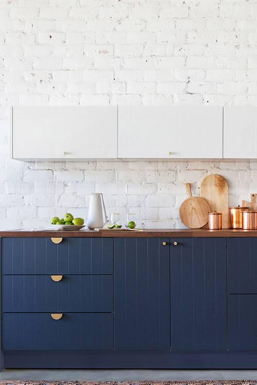 dois armários de cozinha em tons, cozinha 2019 tendências de decoração (18)