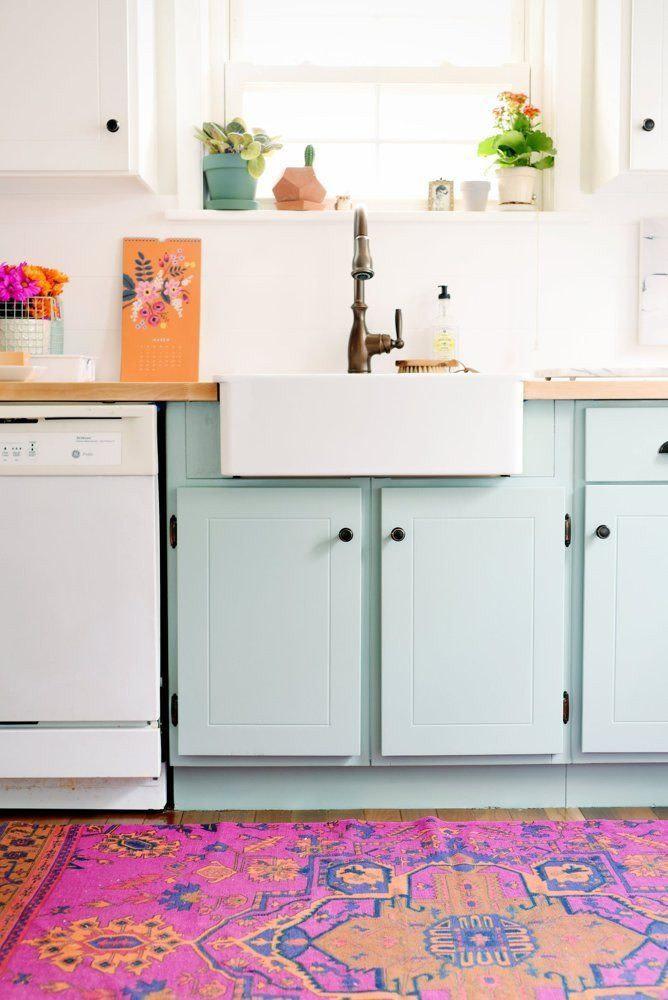 dois armários de cozinha em tons, cozinha 2019 tendências de decoração (2)