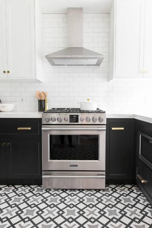 dois armários de cozinha em tons, cozinha 2019 tendências de decoração (20)