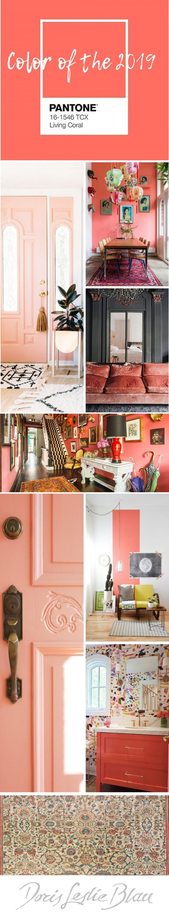 pantone living coral, 2019 interior decor trends-min