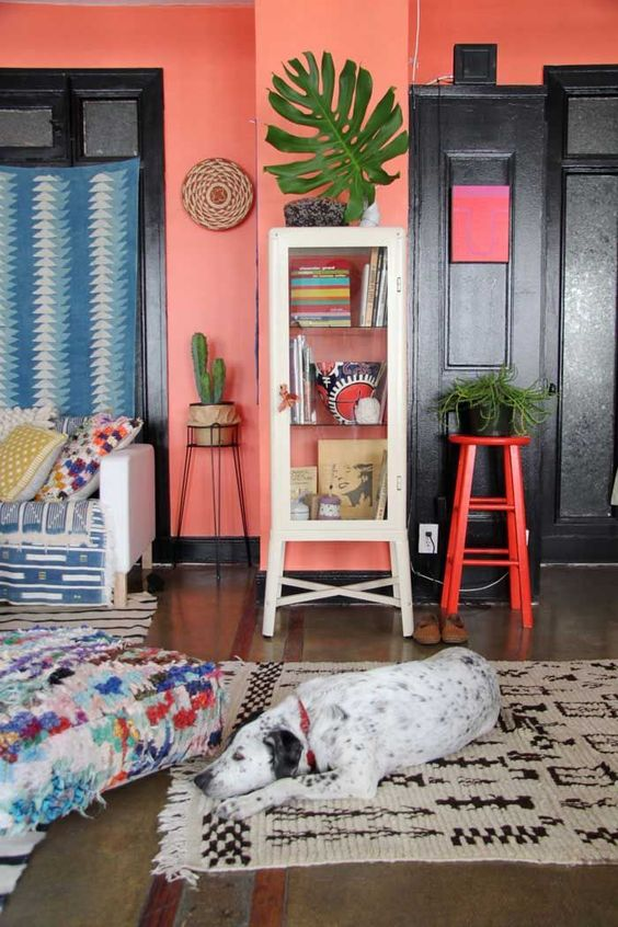 pantone living coral decor