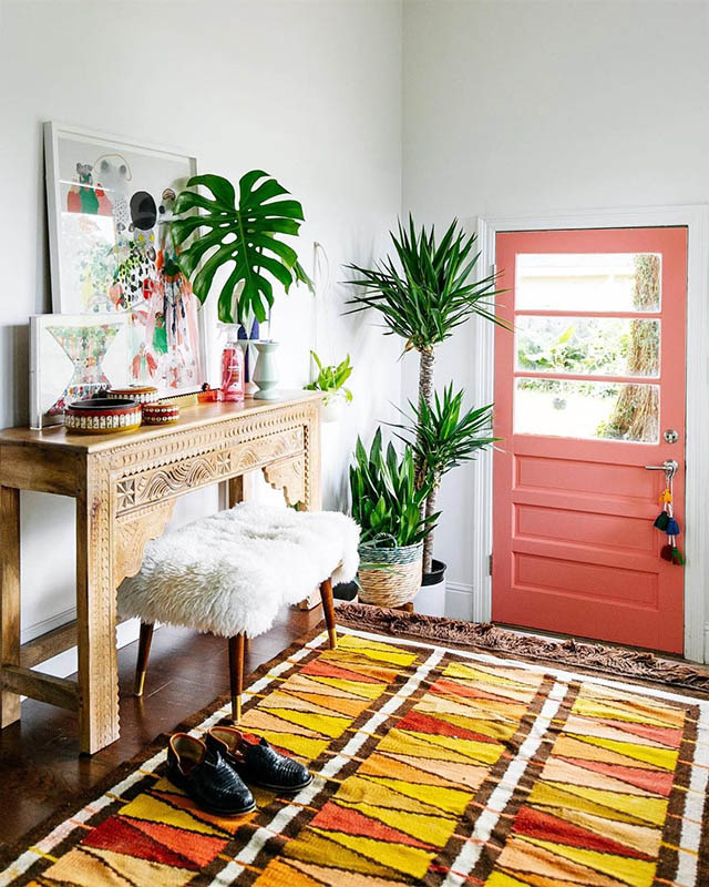 pantone living coral interior decor (11)